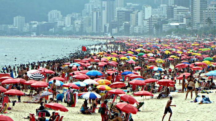 It is safe to walk on beaches in Rio, just don't show your valuables.