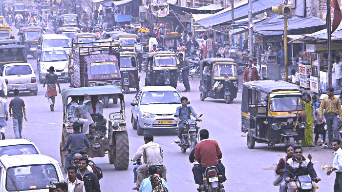 Driving in India can be dangerous.