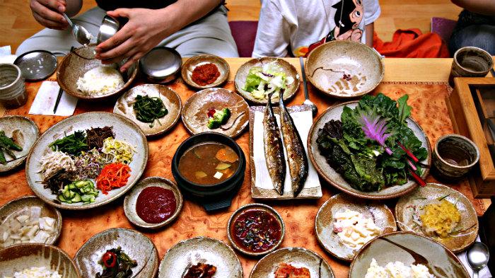 Korean food is one of our favorites.