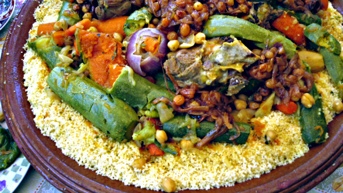 Couscous is a signature dish of Morocco.