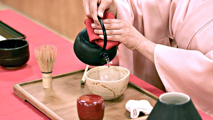 Only matcha tea is used for the Japanese tea ceremony.