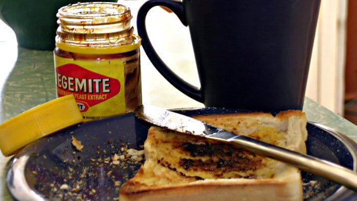 Australian vegemite is made with brewer's yeast, veggies, spices.