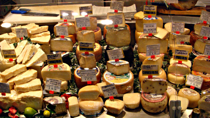 Italians are proud of their delicious cheeses.