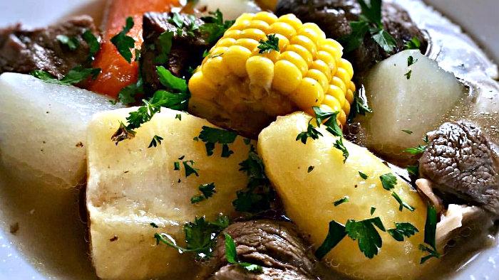 Olla de carne is a meat stew.