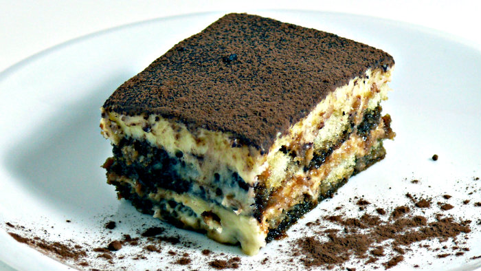 You must have tiramisu when you are in Italy.