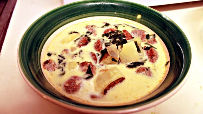 Zuppa Toscana is a classic soup in Italy.