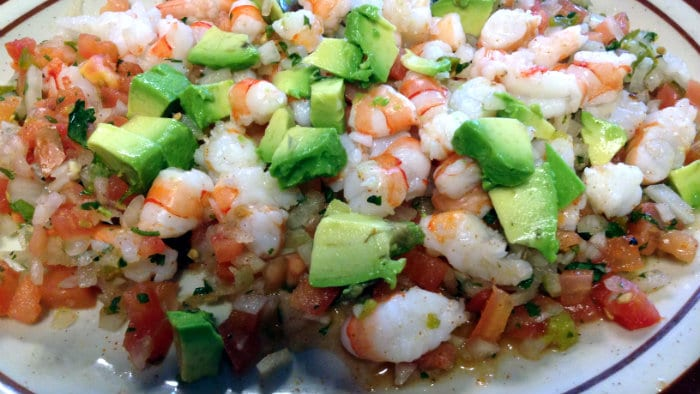 Ecuadorian ceviche is safer to eat, because the seafood is cooked.