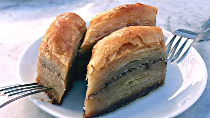 For me, baklava is too sweet.