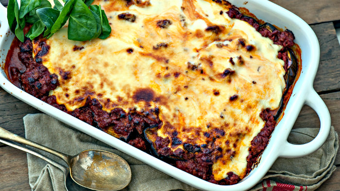 Moussaka is a traditional Greek dish.