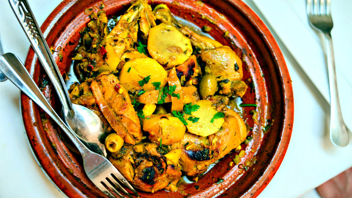 Tajine is a name of a Moroccan pot and a name of the dish.