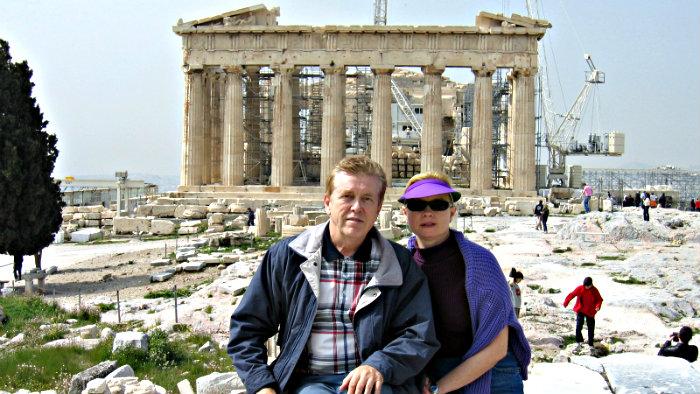 Parthenon on the top of Acropolis.