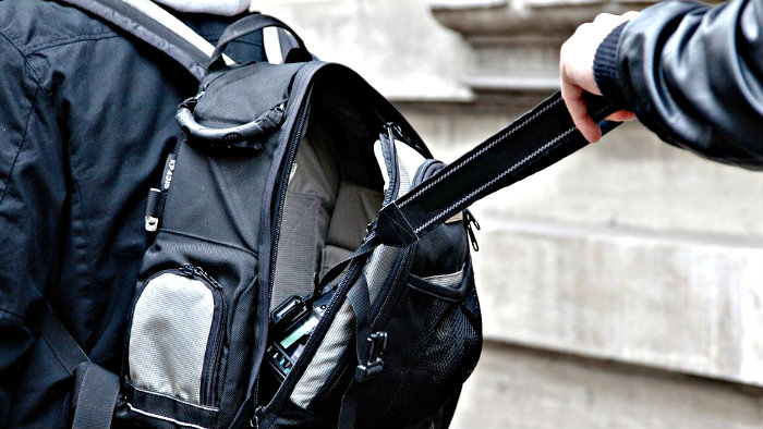 Pickpockets love reaching into backpacks.