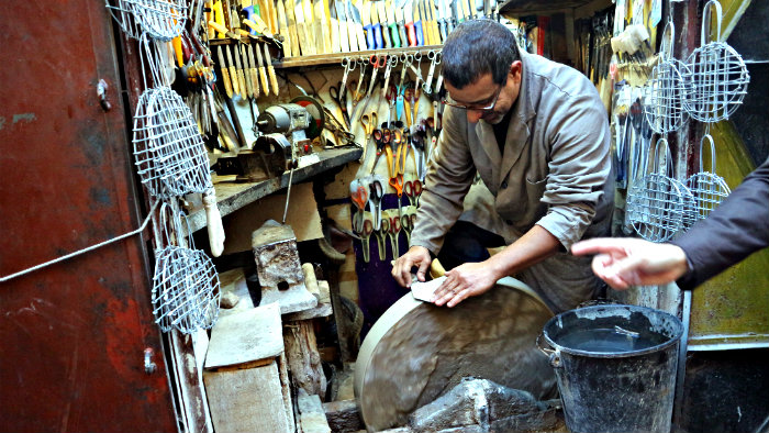 There are hundreds of tiny workshops in Fez Medina