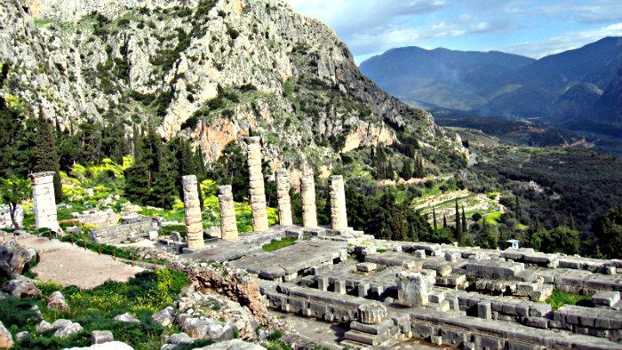 Delphi - a place of Temple of Apollo.