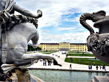 Visiting Vienna's tourist attractions.