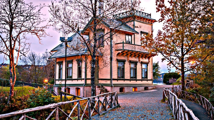Grieg's house was converted to the museum.