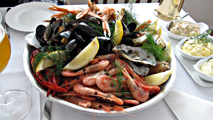 Norwegian cousin includes many seafood dishes.