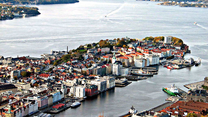 Bergen is the second largest city in Norway.