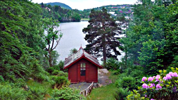 In this cabin, Grieg created his world famous music.