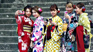 Traditional Japanese clothing is still in use in Japan.