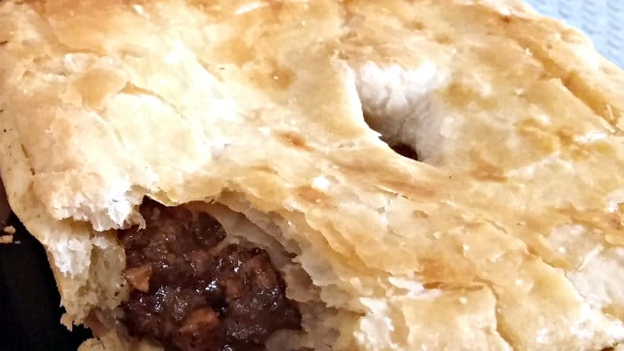 Australian meat pies can be made with beef or chicken.