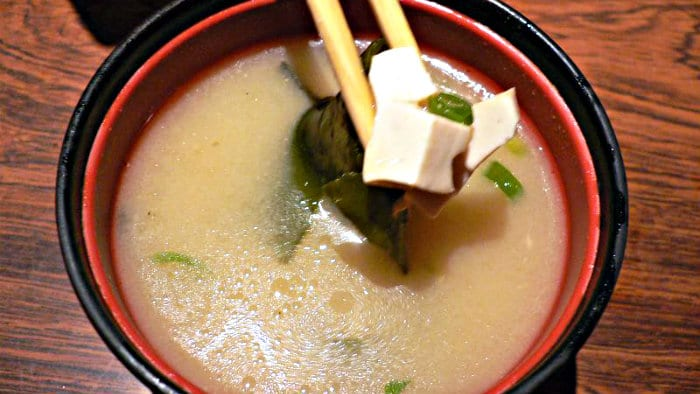 Miso soup is served year-round in Japan.