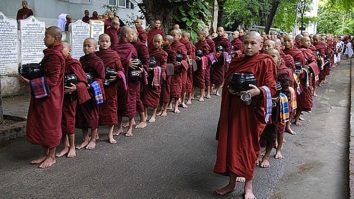 Myanmar is the most religious Buddhist country in the world.