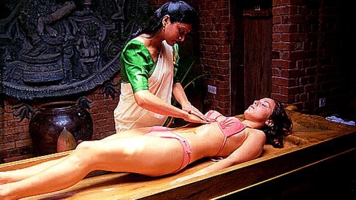 Ayurvedic massage focuses on stress relief.