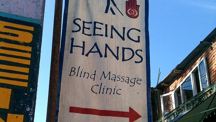 Seeing Hands massage clinic is popular with tourists.